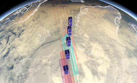 synthetic aperture array created by satellites